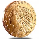 (1 OZ) *Incuse Indian* .999 Pure Copper Coin Bullion