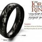 Lord of the Rings Black -The One Rings size 7-12