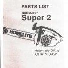 Chain Saw Parts List Homelite Super 2