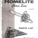 Chain Saw Parts List Homelite 7-19