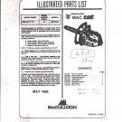 Chain Saw Parts List Mc Culloch , Mac Cat Wildcat 38 cc