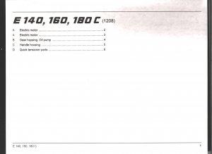Chain Saw Parts List Stihl Electric  E 140, 160, 180 C