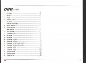 Chain Saw Parts List STIHL 066