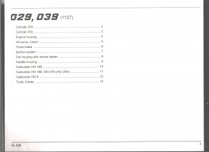Chain Saw Parts List STIHL 029,039