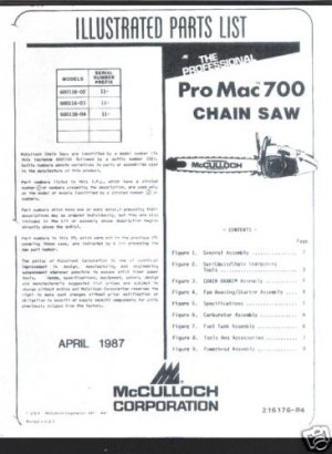 Mcculloch 3200 Series owners manual