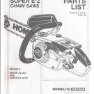 Super E-Z, Homelite Chain Saw Parts List