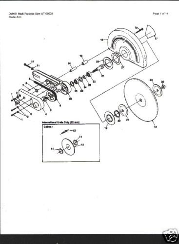 Homelite Multi Purpose Saw DM 401 Parts List
