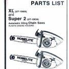 Super 2, Homelite Chain Saw Parts List