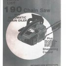 190, Homelite Chain Saw Parts List