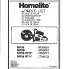 Homelite Multi Purpose Saw MP38L Parts List