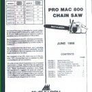 Pro Mac 800, McCulloch Chain Saw Parts List