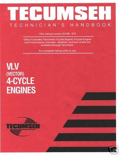 TECUMSEN Techmician's Handbook Victor 4-Cycle Engines