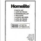 Homelite String Trimmer PBC4000 Parts List