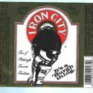Beer Label IRON CITY  12oz.