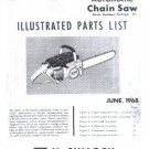 MAC  10-10 1968 Model, McCulloch Chain Saw Parts List