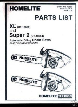 Xl Super 2 Homelite Chain Saw Parts List