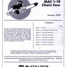 Mac 1-10  McCulloch Chain Saw Parts List (1970)