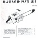 Model 1-85, Vintage McCulloch Chain Saw Parts List