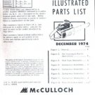 MAC  7-10A , Model, McCulloch Chain Saw Parts List(1974