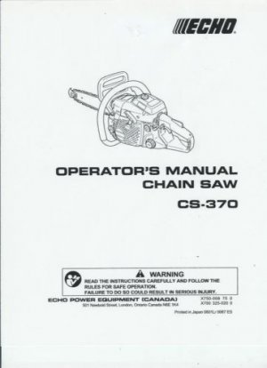 echo cs 352 chainsaw manual