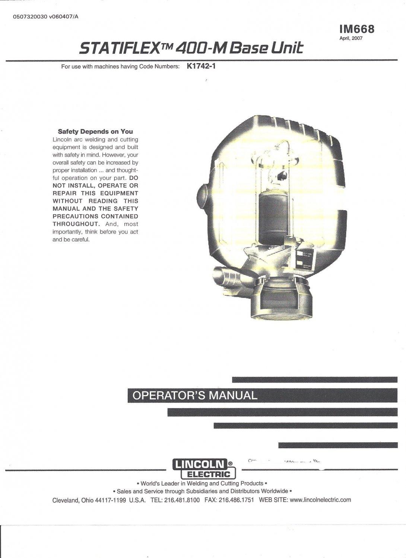 Lincoln Electric SATIFLEX 400-M BASE UNIT