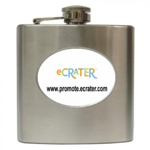 Customize Hip Flask  6 oz Gift Promotional Item Personalize It