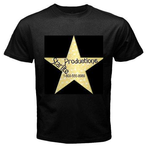 Custom Black T-Shirt Men's 3X 3XL Customize Promotional Item Personalize It