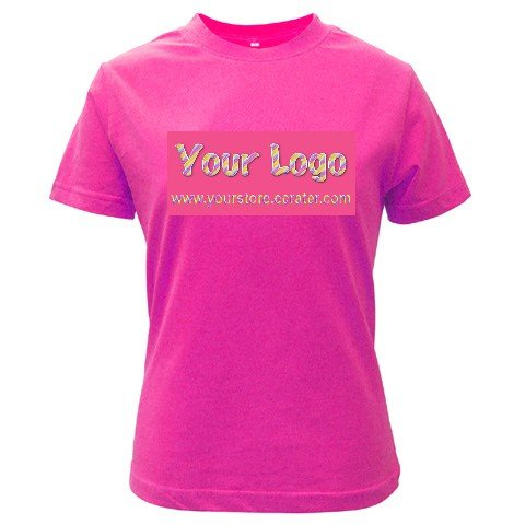 Custom FUSCHIA T-Shirt Ladies MEDIUM Customize Promotional Item Personalize It