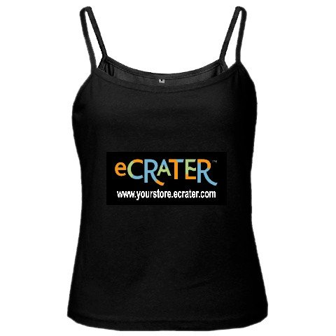 Custom Black Spaghetti Tank Ladies SMALL Customize Promotional Item Personalize It