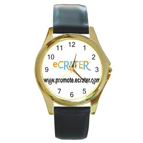 Custom Round Gold Metal Watch Customize Promotional Item Personalize It
