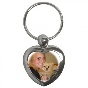Custom Key Chain Heart Customize Promotional Item Personalize It