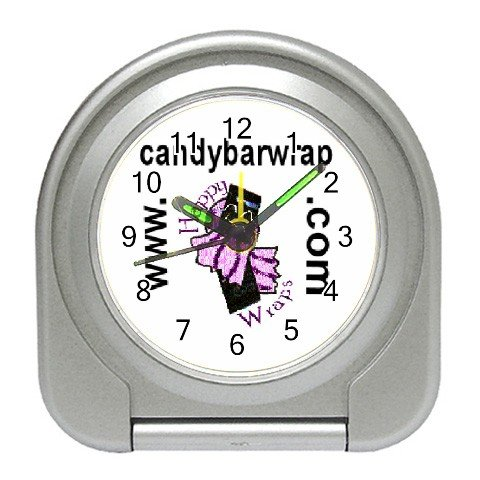 Custom Silver Travel Alarm Clock Customize Promotional Item Personalize It