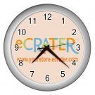 Silver Custom Wall Clock Customize Promotional Item Personalize It