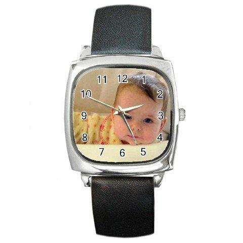 Custom Square Unisex Metal Watch Customize Promotional Item Personalize It