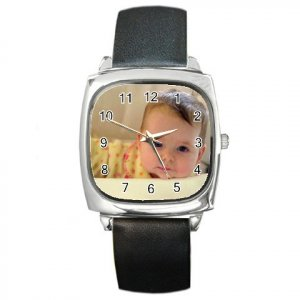 Custom Square Unisex Metal Watch Customize Promotional Item Personalize It