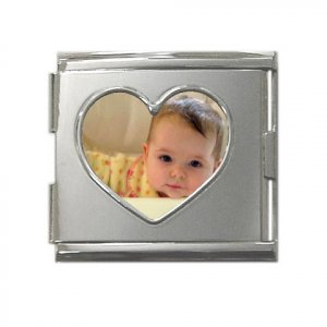 Custom Mega Link Heart Italian Charm 18mm Customize Promotional Item Personalize It