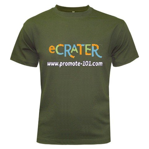 Logo T-Shirt Military Green Small Customize Promotional Item Personalize It