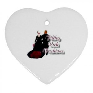 2 Custom Ornament Heart Customize Promotional Item Personalize