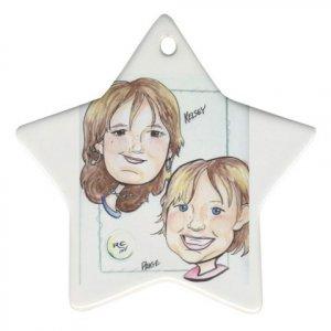 Custom Ornament STAR Customize Promotional Item Personalize