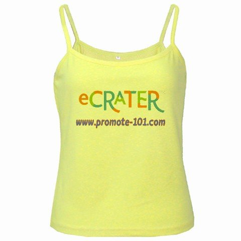 Spaghetti Tank Top YELLOW Ladies SMALL Customize Promotional Item Personalize It