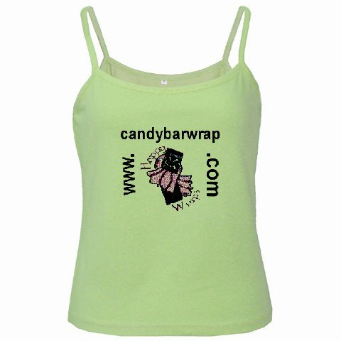 Green Spaghetti Tank Ladies SMALL Customize Promotional Item Personalize It