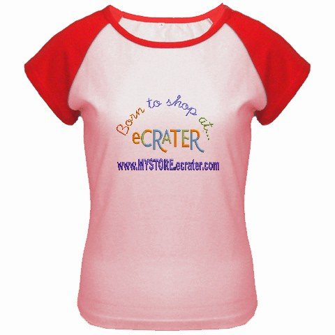 Custom Women's Cap Sleeve T-Shirt Pink Red 2X 2XL Customized Promotional Personalize It