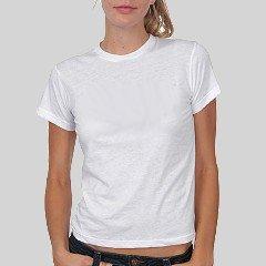 Custom White Jr. Baby Doll T-Shirt Medium Customized Promotional Personalize It