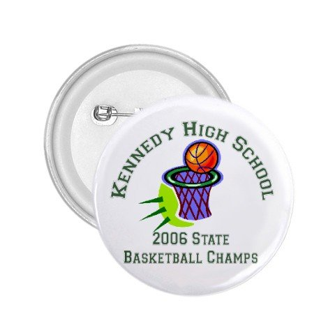 "Custom 1.75"" Button Pins 100 pack Personalize for Sports Team School Business"