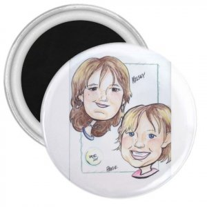 """Customized 3"""" Magnets 100 pack Personalize Sports Team School Business Fund Raisers"""