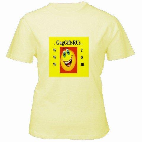 Custom Yellow Women's T-Shirt SMALL Customized Promotional Personalize It Logo Item