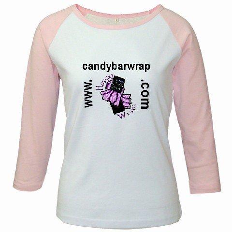 Custom Jr. Raglan Baseball Jersey Pink White T-Shirt Medium Sports Team Uniform School Logo