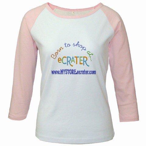 Custom Jr. Raglan Baseball Jersey Pink White T-Shirt XL Ex-Large Sports Team Uniform School Logo