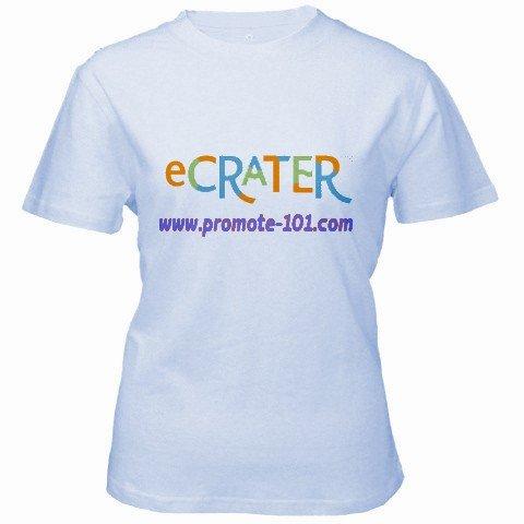 Custom Baby Blue Women's T-Shirt SMALL Customized Promotional Personalize It Logo Item