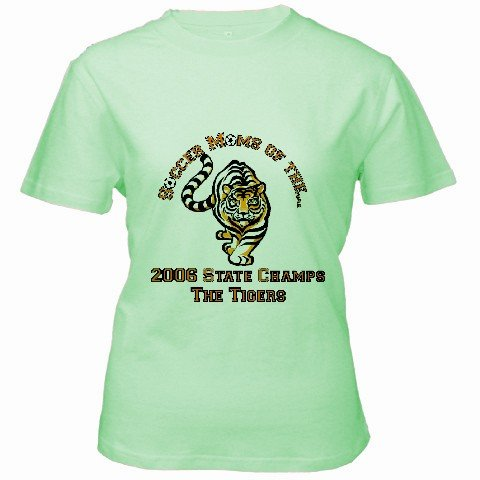 Custom Green Women's T-Shirt SMALL Customized Promotional Personalize It Logo Item
